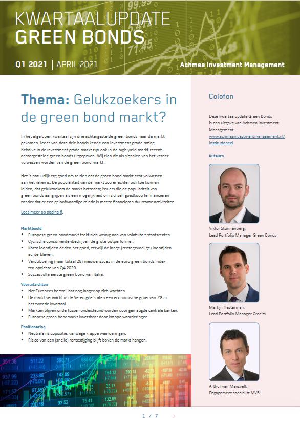 Kwartaalupdate Green Bonds Q1 2021